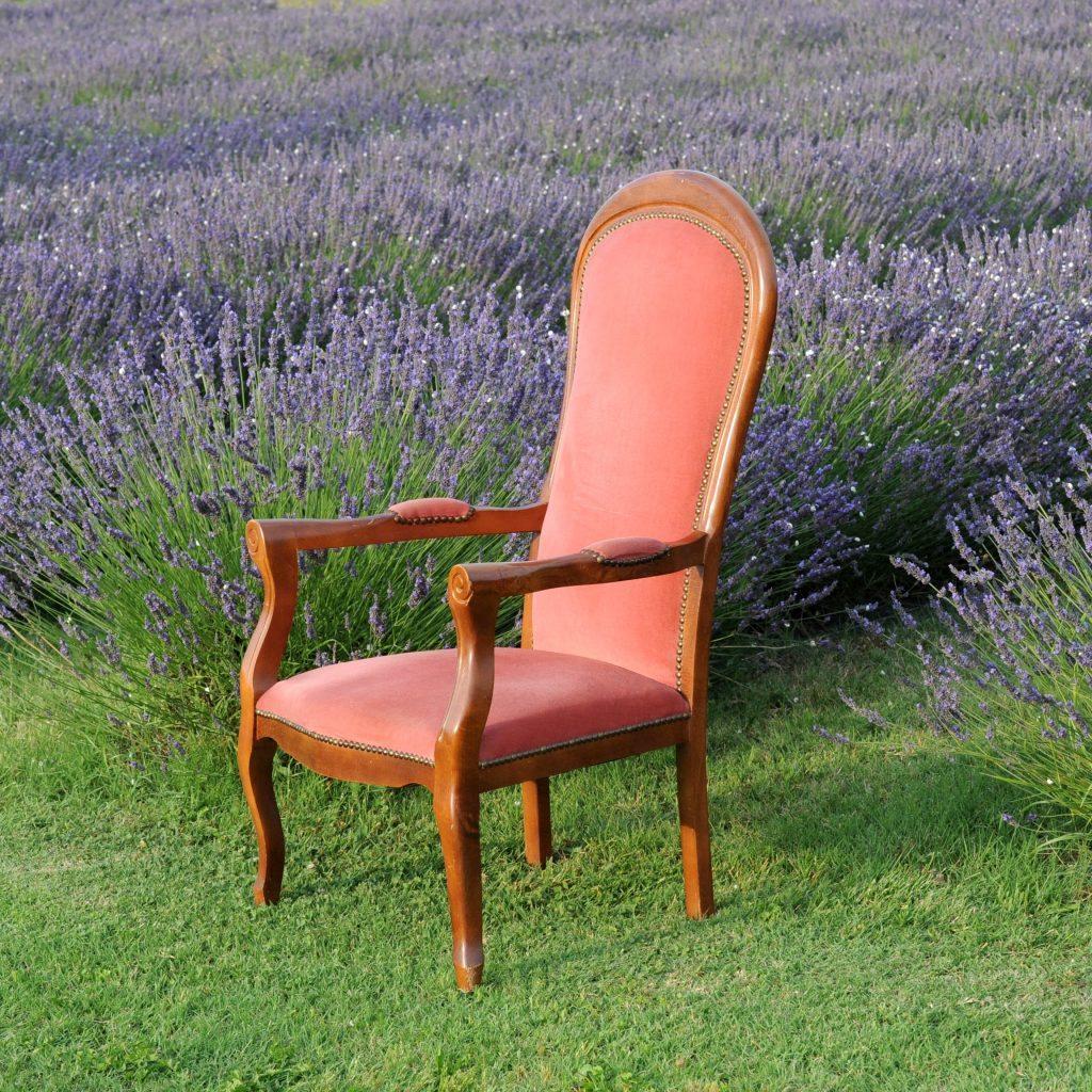 fauteuil voltaire vieux rose oravis. Black Bedroom Furniture Sets. Home Design Ideas